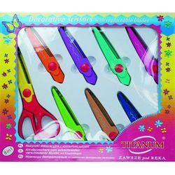 Nożyczki dekoracyjne z wymiennymi ostrzami 8 w 1