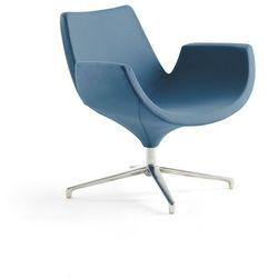 Fotel ENJOY, niskie oparcie, zakurzony niebieski