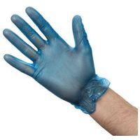 Rękawice robocze, Rękawiczki winylowe niebieskie   100 szt.   różne rozmiary
