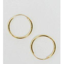 ASOS Gold Plated Sterling Silver 20mm Hoop Earrings - Gold