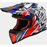 Kaski motocyklowe, KASK LS2 MX437J FAST MINI STRONG WHITE/RED/BLUE