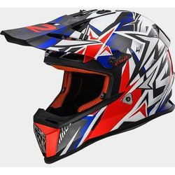 KASK LS2 MX437J FAST MINI STRONG WHITE/RED/BLUE