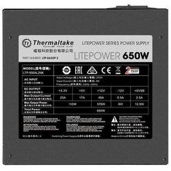 Thermaltake Litepower II Black 650W (Active PFC, 2xPEG, 120mm, Single Rail)