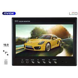 "NVOX HT 970 Monitor samochodowy cofania lub zagłówkowy LCD 7"" cali monitoring AV"