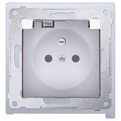 Gniazdo pojedyncze hermetyczne IP44 białe DGZ1BZ.01/11A Kontakt Simon54 RABATY