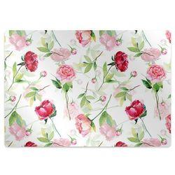 Podkładka pod krzesło obrotowe Podkładka pod krzesło obrotowe Czerwone kwiaty