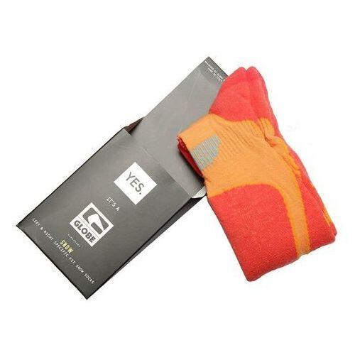 Odzież do sportów zimowych, skarpetki GLOBE - Yes/Globe Park Rat Sock Orange (ORANGE) rozmiar: S/M