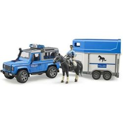Pojazd Land Rover Defender Policja z przyczepą
