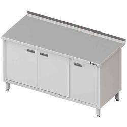Stół przyścienny z szafką drzwi skrzydłowe 1600x600x850 mm | STALGAST, 980556160
