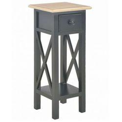 Czarny stolik boczny do salonu - Kroton