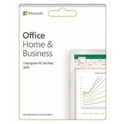 Program Microsoft Office Home and Business 2019 PL Box Win/Mac 32/64bit (100PLN TANIEJ przy zakupie z Laptopem / Komputerem)