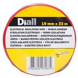 Taśma izolacyjna Diall PCV 19 mm x 33 m czerwona