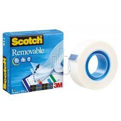 Taśma samoprzylepna 3M Scotch Removable 19mm x 32,9m mleczna usuwalna