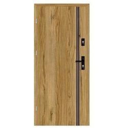 Drzwi wejściowe otwierane na zewnątrz HERMES Dąb Catania 80 Lewe NAWADOOR