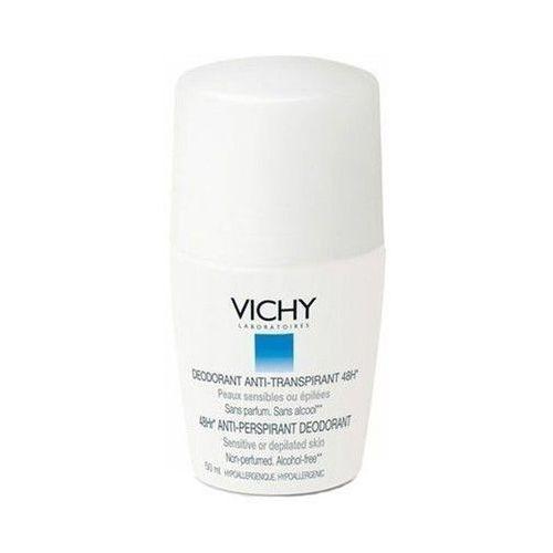 Antyperspiranty damskie, VICHY Dezodorant w kulce 48h - skóra bardzo wrażliwa depilowana - biały 50ml CENA