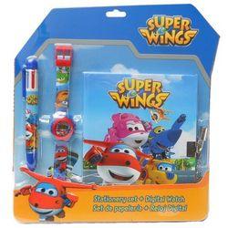 Pamiętnik z długopisem i zegarkiem na rękę Super Wings