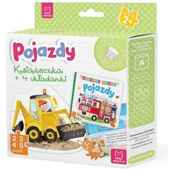 Pojazdy Książeczka i cztery układanki Puzzle dla malucha - Praca zbiorowa