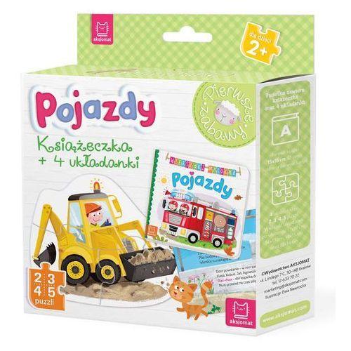 Puzzle, Pojazdy Książeczka i cztery układanki Puzzle dla malucha - Praca zbiorowa