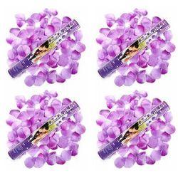 Tuba strzelająca, liliowe sztuczne płatki róż, 40 cm, 4 szt.