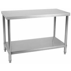 Stół roboczy - 120 x 70 cm - stal nierdzewna - 143 kg