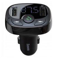 Transmitery samochodowe, BASEUS TRANSMITER FM BLUETOOTH 2X USB SD CZARNY - CCTM-01