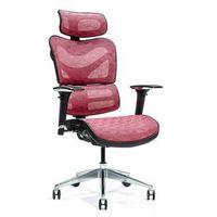 Fotele i krzesła biurowe, Ergonomiczny fotel biurowy ERGO 600 czerwony