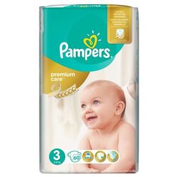 Pieluchy jednorazowe PAMPERS Premium Care 3 Midi 5-9 kg (60 sztuk)