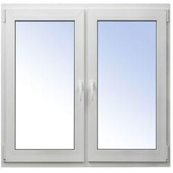 Okno PCV rozwierne + rozwierno-uchylne 1465 x 1435 mm symetryczne białe