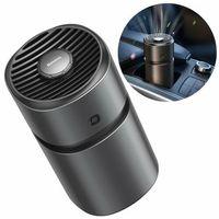 Odświeżacze powietrza do samochodu, Baseus mini wiatrak wentylator / elektryczny odświeżacz powietrza zapach do samochodu + 2 wkłady czarny (SUXUN-AWF01)