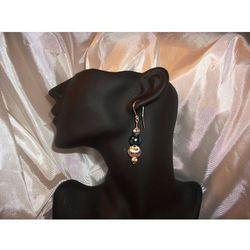 K-00043 Kolczyki ze szmaragdowymi perłami rabat 25%