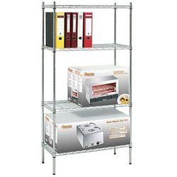 Regał biurowy chromowany 750x350x1520 mm | BARTSCHER, 601151