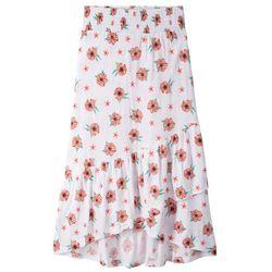 Spódnica z dżerseju z falbanami bonprix biały