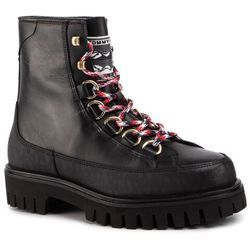 Trapery TOMMY HILFIGER - Fashion Leather Monogram Boot FM0FM02584 Black BDS