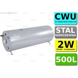 Bojler JOULE Cyclone 500L poziomy 2W 2-wężownice nierdzewka wymiennik podgrzewacz CWU Wysyłka GRATIS