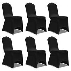 vidaXL Pokrowiec na krzesło, czarny x 6 Darmowa wysyłka i zwroty