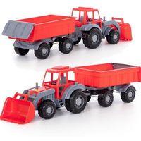 Traktory dla dzieci, Pojazd Altaj Traktor z przyczepą i łyżką