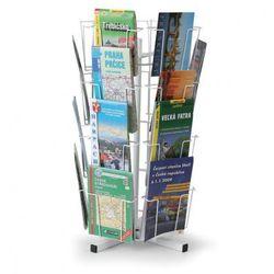 Obrotowy stojak stołowy na kartki pocztowe, mapy, 24 kieszeni