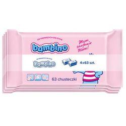 BAMBINO 4x63szt Chusteczki dla niemowląt