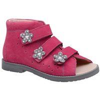 Obuwie profilaktyczne dziecięce, Sandały Profilaktyczne Ortopedyczne Buty DAWID 1043 Różowe RCSZ - Różowy   Fuksja   Multikolor