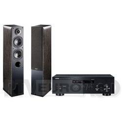 Yamaha MusicCast R-N303D (czarny), Indiana Line Nota 550 X (czarny dąb)