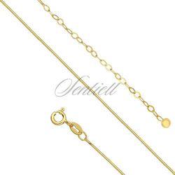 Srebrna bransoletka na nogę pr.925 pozłacana - Żółte złoto