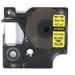 Rurka termokurczliwa DYMO Rhino 18056 12mm x 1.5m ø 3.0mm-5.1mm żółta czarny nadruk S0718310 - zamiennik   OSZCZĘDZAJ DO 80% -
