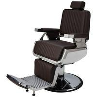 Meble fryzjerskie, Ayala LORD Fotel barberski brązowy z regulacją wysokości dostępny w 48h