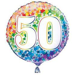 Balon foliowy kolorowy - 50tka - 47 cm - 1 szt.