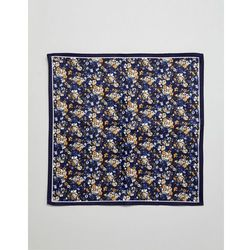 ASOS DESIGN floral pocket square in navy - Navy