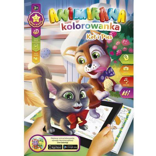 Kolorowanki, Kolorowanka A4/8 4D Kotek i Piesek - Panta-Plast