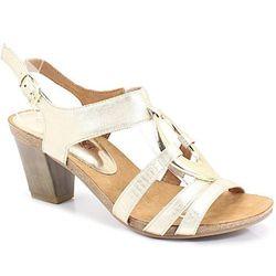 CAPRICE 9-28308-22 ZŁOTE - Wygodne Sandały DZIEŃ MATKI (-30%)