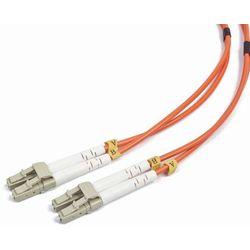 Gembird światłowód krosowy LC-LC duplex mm 50/125 OM2 pomarańczowy 1m (CFO-LCLC-OM2-1M) Darmowy odbiór w 21 miastach!