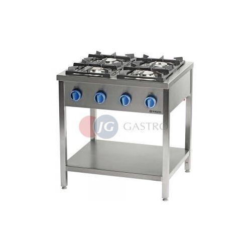 Piece i płyty grzejne gastronomiczne, Kuchnia gazowa wolnostojąca 4-palnikowa z półką 24 kW Stalgast 999533
