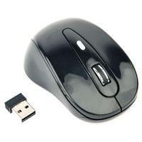 Myszy komputerowe, Mysz optyczna bezprzewodowa GEMBIRD MUSW-6B-01 kolor czarny- natychmiastowa wysyłka, ponad 4000 punktów odbioru!